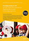 Cover des Buches Sozialgesetzbuch VIII: Gruppe von Kindern sitzend mit roten Kappen
